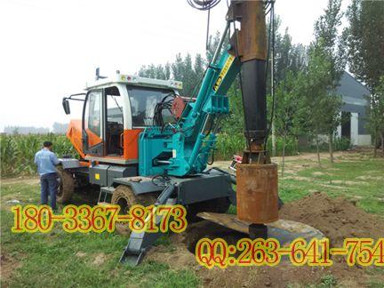 螺旋桩机施工步骤 快速旋挖钻 小型旋挖钻机 轮式旋挖钻