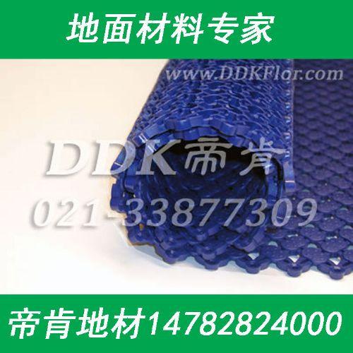 直条纹游泳馆池边滤水防滑地毯,蓝色泳池地垫