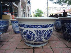 陶瓷花盆,特价批发纯色陶瓷花盆厂家