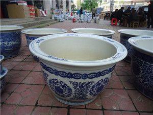 陶瓷花盆,厂家供应青花瓷花盆