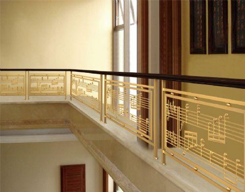 铜栏杆|阳台护栏|楼梯栏杆|楼梯扶手|黑钛拉丝|玫瑰金|定制