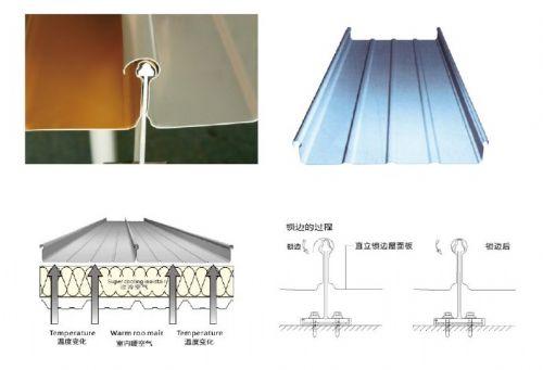 专业设计和安装65直立锁边铝镁锰金属屋面板