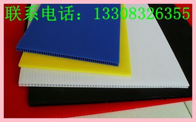 重庆彩色中空板 挤塑中空板