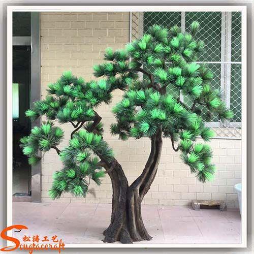 包柱子仿真树 假树造景工程 仿真植物批发