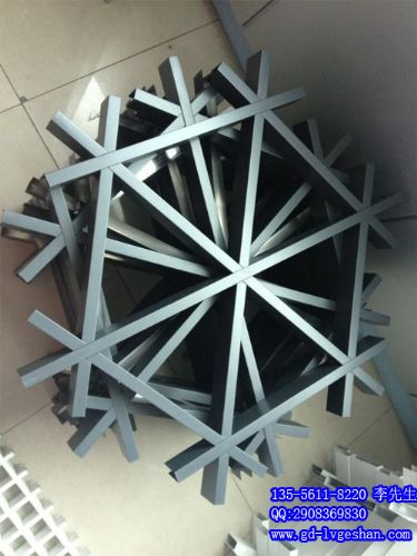 黄南六角铝格栅 三角形格栅 造型铝格栅
