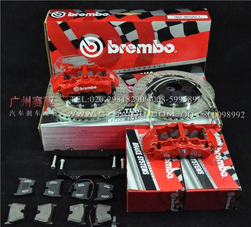 奥迪Q7刹车改装搭配前BREMBO GT8刹车套装