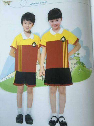 供应中小学生夏季Polo衫套装 纯棉套装