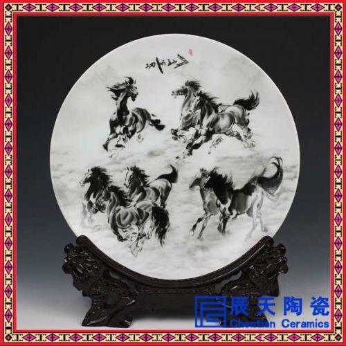 纪念瓷盘赏盘供应 摆设礼品瓷盘 景色印制瓷盘