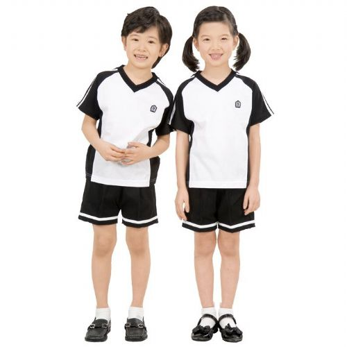 小学短袖T恤套装小学校服定做