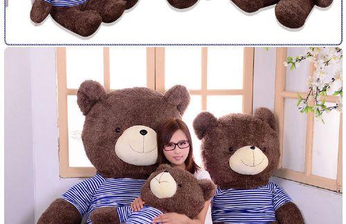 厂家批发泰迪熊38节女生礼品大号小熊毛绒玩具公仔女朋友生日礼物