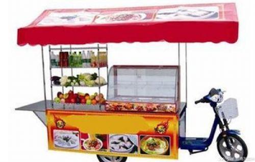 多功能餐饮小吃车一车顶多店移动的美食餐厅