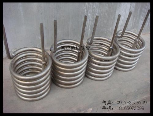 钛盘管、钛蛇形盘管、钛U型盘管、钛双盘管、钛管式换热器、钛双套盘