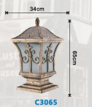 欧式柱头灯,现代柱头灯,公园立柱灯、围墙柱头灯生产厂家