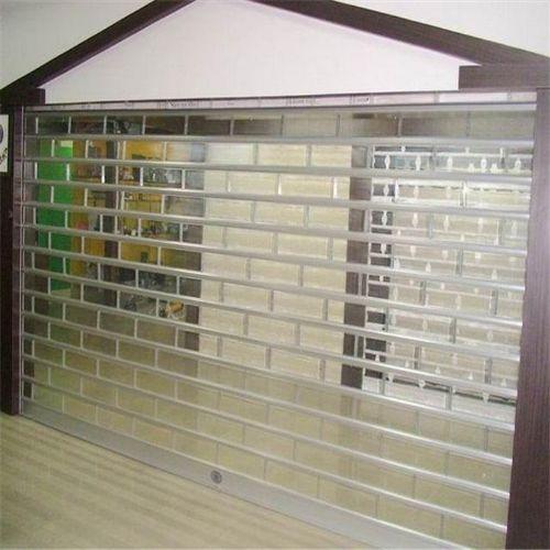供应遥控水晶透明卷帘门/水晶防盗卷帘门