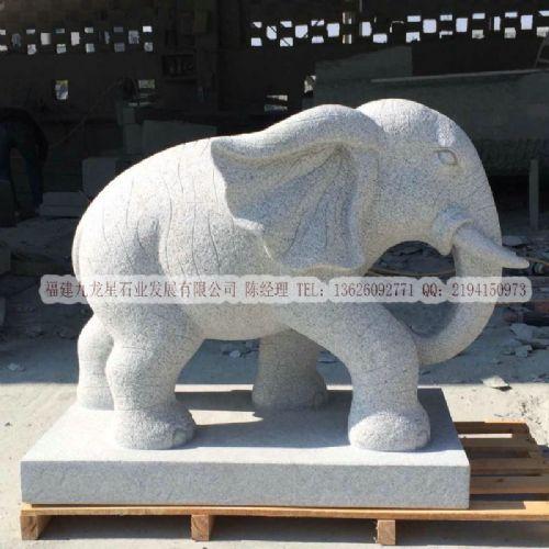 吉祥如意大象 大理石青石天然石头雕刻 惠安石雕厂家直销