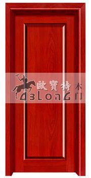 打磨圆润河北烤漆平雕室内门/新乐市工程田园风门