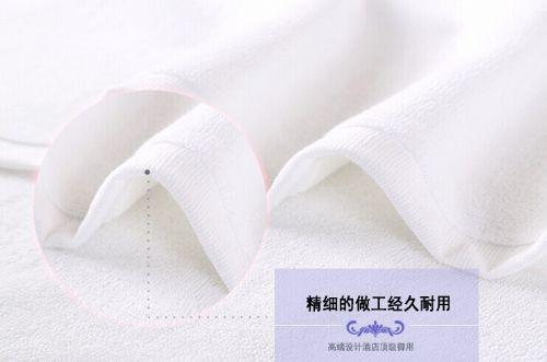 洗浴毛巾批发定制纯棉白吸水洁利红浴巾加大加厚酒店宾馆美容院