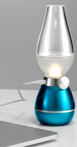 复古吹控煤油台灯装饰灯充电 创意怀旧led小夜灯