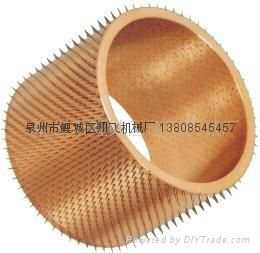 Packaging film needle roller