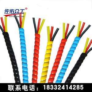 8mm阻燃线缆保护套 油管胶管耐磨护套 绝缘塑料