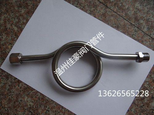 精品G1/2-M20*1.5/14*2压力表缓冲冷凝O型弯管