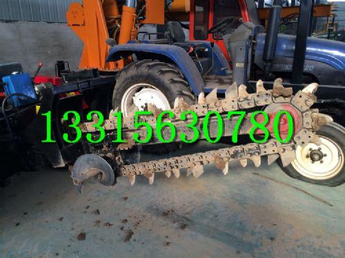霸州拖拉机开沟机 链条式开槽机  链式挖沟机 轮式挖槽机