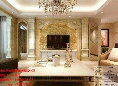 石塑框架欧式罗马柱背景墙图片