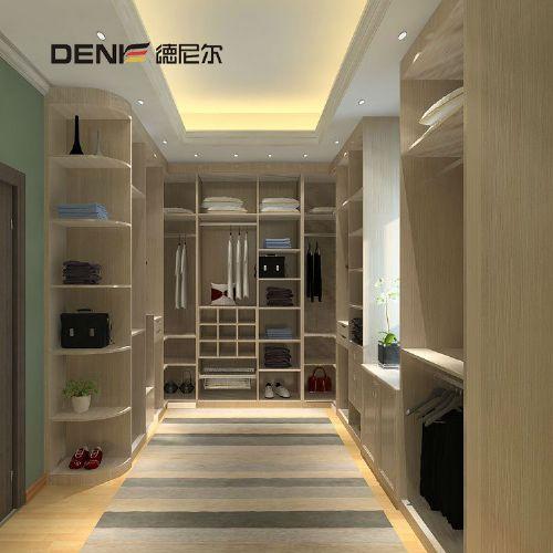 德尼尔衣柜定制 现代U型衣柜定做 卧室整体衣柜定制