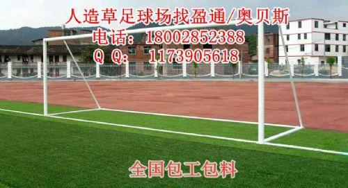 仿真草坪人造草足球场,优质仿真草坪足球场施工
