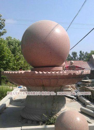 小区风水球喷泉 流水转运球