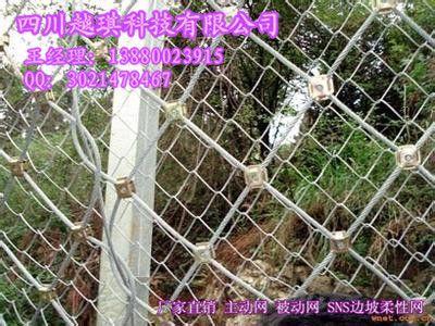 被动防护网 边坡柔性网 绞索网 钛被动防护网