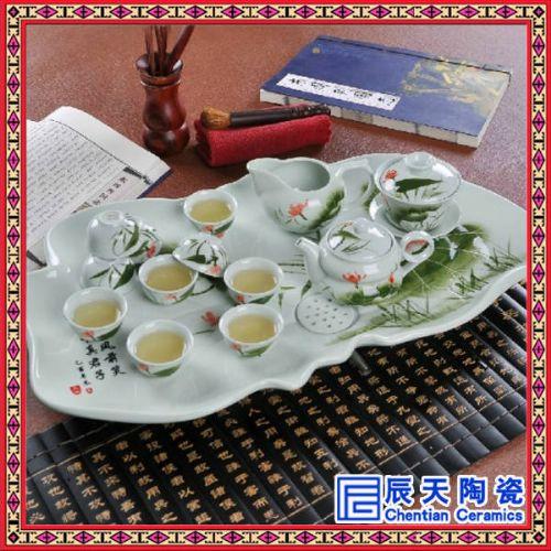 供应陶瓷茶具厂家 订制茶具 景德镇茶具
