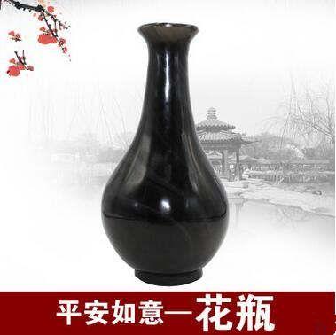 黑曜石花瓶摆件商务创意礼品