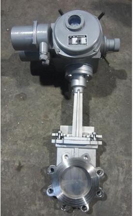 上海乾仪PZ943H-16C电动法兰刀型闸阀