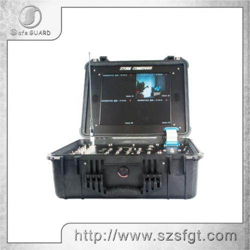 四路无线便携式监视器,四路视频接收机,COFDM无线接收机