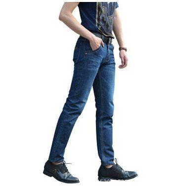 春秋商务男士牛仔裤直筒