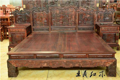 古典床 中式红木双人床
