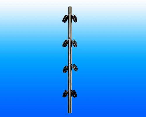 天津州杰脉冲电子围栏前端组成-不锈钢终端杆