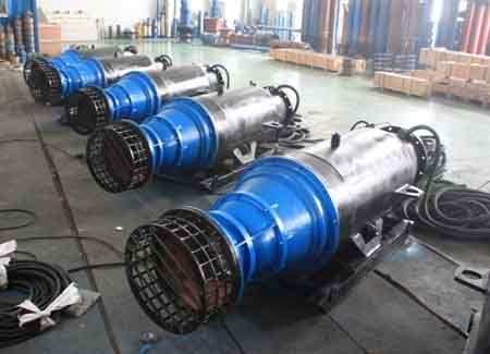 大流量市政给排水专用潜水轴流泵