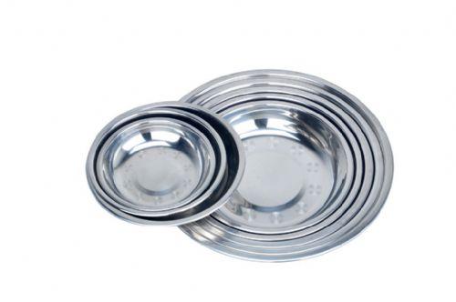 厂家直销潮安彩塘斗牛氏不锈钢圆盘  无磁加厚不锈钢圆盘子