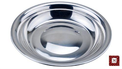 无磁不锈钢圆盘 韩式不锈钢圆盘 加厚不锈钢圆盘 礼品赠品圆盘