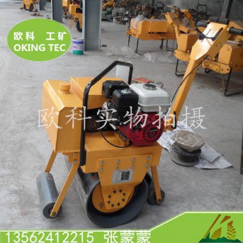 单钢轮振动压路机 手扶单轮汽油压路机