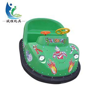 广场儿童电动车室内奥特曼游乐设备新款双人碰碰车