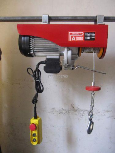 微型电动葫芦220V装修升降提升机家用小吊机1吨起重机小型卷扬机