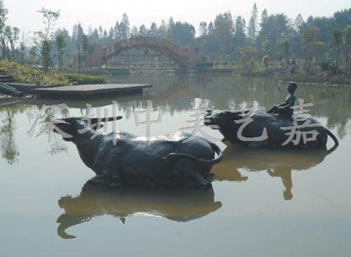 铸铜动物雕塑制作 深圳铸铜雕塑生产厂家