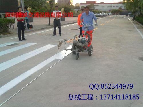 深圳小区车位划线_厂区停车位划线_道路热熔划线
